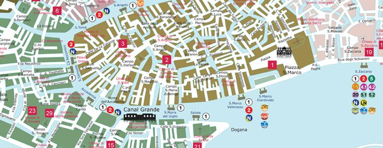 Venedig Karte.Venice Map