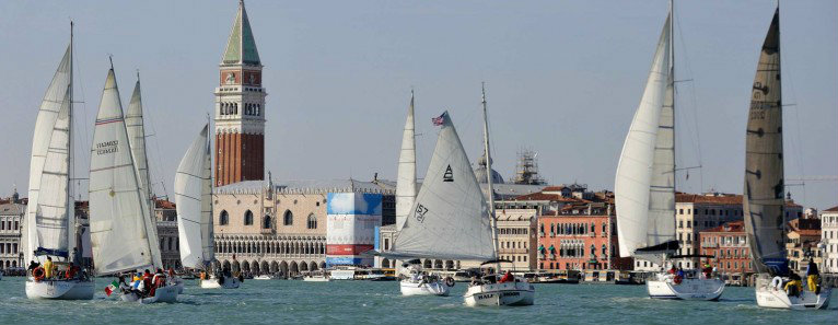 Veleziana 2016: dozens of boats in San Marco's lagoon on October, 16th